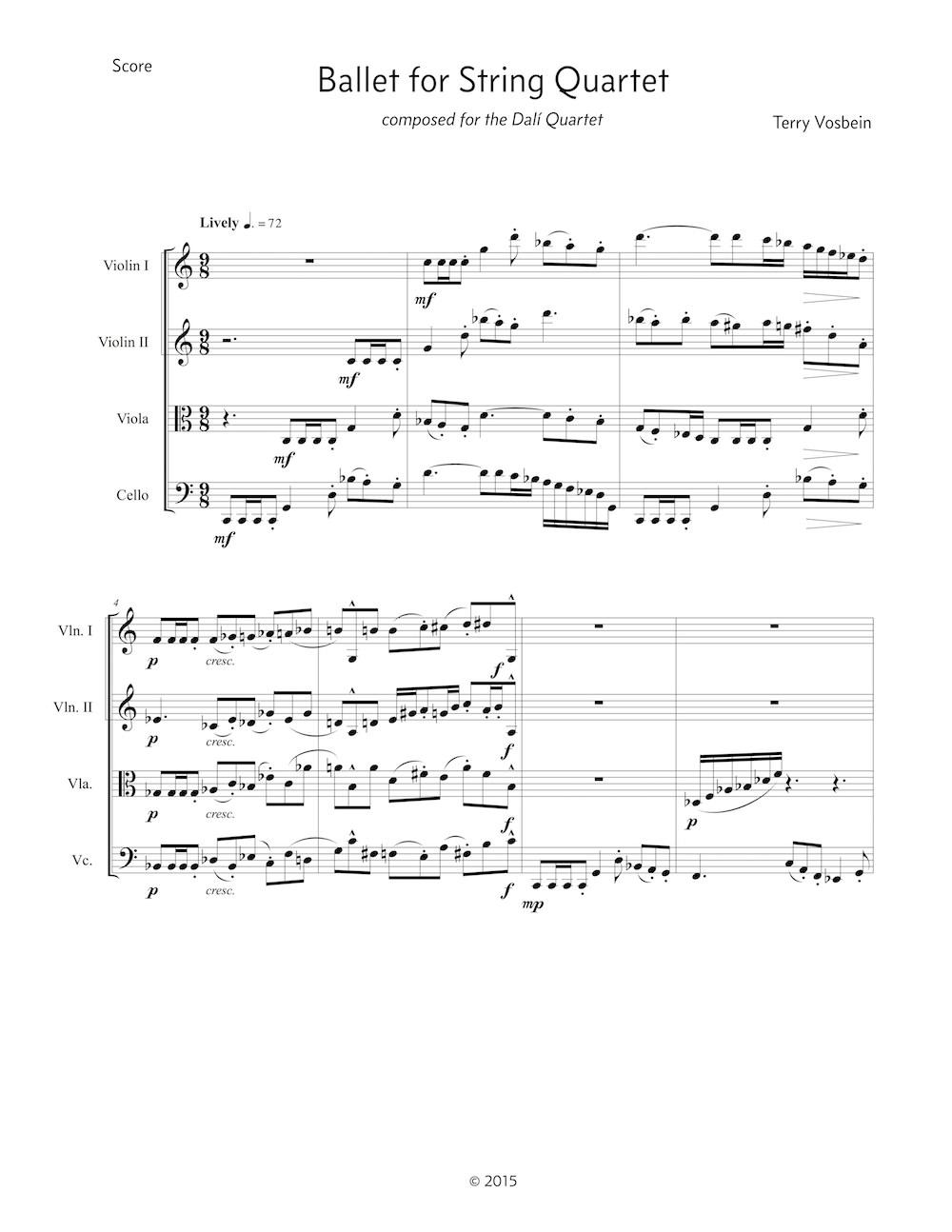 Ballet for String Quartet